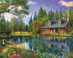Mountain Cabin Jigsaw Puzzle, 1000 pc., by White Mountain Puzzles, #1147PZ